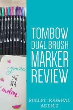 Tombow Brush Pen Review - Best Bullet Journal Supplies - Bullet Journal Brush Markers and Hand Lettering #bulletjournal #bujo #bujolove #handlettering #handwriting #calligraphy #moderncalligraphy #brushpens #quotes #brushpenquotes #art #tombow #tombowbrushpens Bullet Journal Quotes, Journal Fonts, Bullet Journal Themes, Bullet Journal Inspiration, Journal Ideas, Bullet Journals, Hand Lettering Quotes, Brush Lettering, Tombow Brush Pen