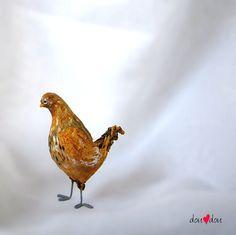 Sweet Little Minaiture Chicken  Bird Sculpture by doudoubirds, $32.00