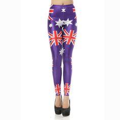 Twisted Envy Baby Leggings United Kingdom Union Jack Flag Baby and Toddler Girls Leggings