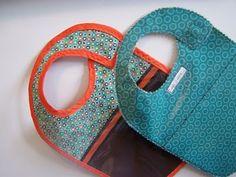 Sewing Pattern : Tutorial : Reversible Magnetic Wipe-Clean Toddler Bib with Pattern