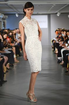 For a cocktail reception or a trip to city hall, there's nothing quite like a Little White Dress, like this one from Ines di Santo.