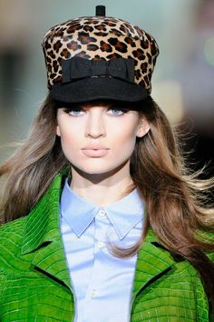 Leopard and animal prints -   Bow details -    DSquared2 Fall 2012  Photography by Peter Stigter