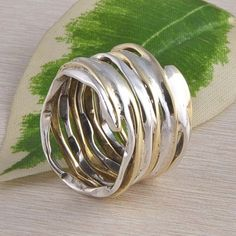 EXCLUSIVE HEMMER RING 925 STERLING SILVER ANTIQUE JEWELLERY DJR2342 S-7 #Handmade #Ring