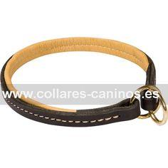 Collar ahorque de cuero para paseos con perros Cane Corso diseño máximo confort forro de piel - C100