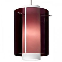 Bruck Rome Mono Point Pendant Light Bulb Type: GU24 CFL, Finish: Matte Chrome, Shade Color: Amethyst