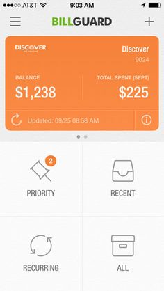BillGuard  clean design for bills, could be applied for how we set specific functions in interfaes