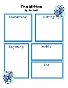 the mitten by jan brett worksheets | The Mitten by Jan Brett Guided Reading Unit winter - Comprehension ...