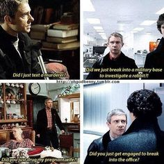 You'd think he'd be used Sherlock's shenanigans