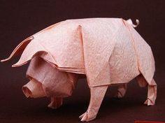 Origami pig (tutorial).