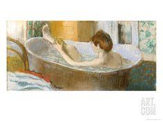 Art.fr - Impression giclée 'Femme dans son bain,1883' par Edgar Degas