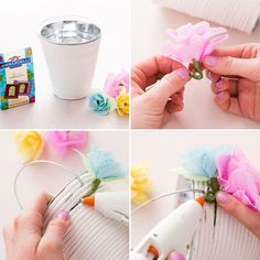 Follow these tips to DIY a floral Easter bucket.