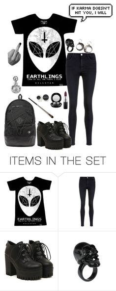 """Earthlings"" by chuckygal-mp ❤ liked on Polyvore featuring art, black, Dark, killstar, aliens and earthling"
