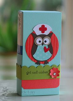 Get Well Pocket Tissue cover using SU Owl punch, photo only