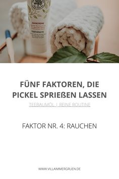 Teebaumöl | Reine Routine - Faktor Nr. 4: Rauchen Peeling, Routine, Soap, Dental Caries, Beauty Products, Smoking, Organic Beauty, Bar Soap, Soaps