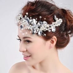 Wholesale Hair Accessories - Buy The Bride Wedding Dress Tire Headdress Flower Hair Accessories Frontlet Handmade Pearl, $23.86   DHgate