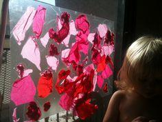 Tissue Paper Suncatcher- inspired by Tinkerlab.com