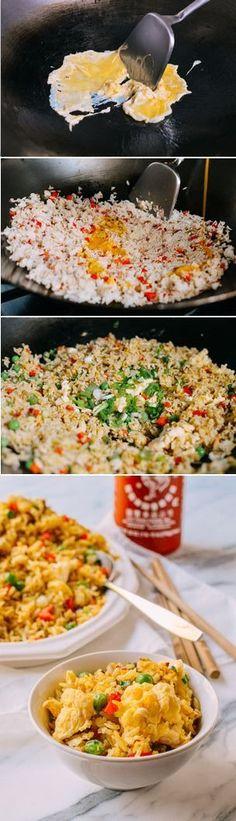 Egg Fried Rice Recipe #egg #friedrice #dinner