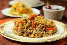 Плов по-турецки, вкусный и сытный, готовится с баклажанами, то есть без мяса. Смотрите рецепт с фото.