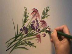 Disfruta pintando flores con Gloria Moran - YouTube