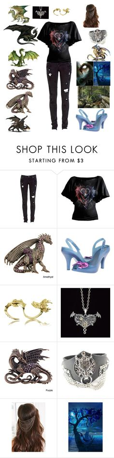 """""""dragons"""" by bandsaremyheartandsoul ❤ liked on Polyvore featuring Levi's, GREEN DRAGON, Vivienne Westwood, Bernard Delettrez, CO and Forever 21"""