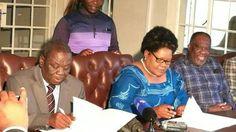 Zimbabwe opposition sign coalition agreement - http://zimbabwe-consolidated-news.com/2017/04/19/zimbabwe-opposition-sign-coalition-agreement/