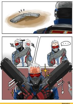 Overwatch,Blizzard,Blizzard Entertainment,фэндомы,Overwatch Comics,Soldier 76,Reaper (Overwatch)
