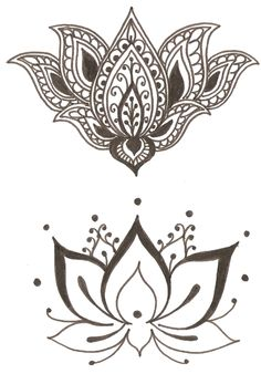 Lotus flower tattoo idea