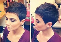 Kurze Pixie Haarschnitt