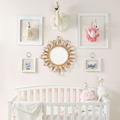 Pretty in pink! Mud Pie Gifts, Rocking Chair, Pretty In Pink, Nursery Decor, Cribs, Picture Frames, Pillows, Wall, Cots