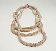 Forkwood Necklace... wood + veneer by Silke Spitzer