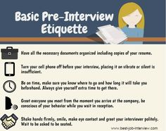 pre interview etiquette - Pre Interview Questions To Ask Before An Interview