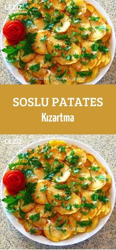 Soslu Patates Kızartma – Leziz Yemeklerim – Sebze yemekleri – The Most Practical and Easy Recipes Homemade Beauty Products, Pure Products, Yummy Cookies, Vegetable Pizza, Risotto, Catering, Recipies, Health Fitness, Snacks