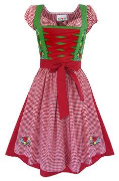 Karwendel Kollektion, besticktes Damen Dirndl im Retro Look neu von mein herzblut im mein herzblut shop