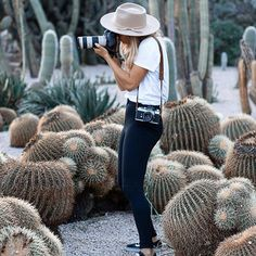 || 💕🌵💕 Behind the scenes captured in between a heaven of oases of cactussen 💕🌵💕 | #thegirlbehindthelens | shooting something excited for @sir_thelabel | wearing @lackofcoloraus | #35mm #film | captured by my amazing talented boyfriend @wernerstoltz | #michellevandijkphotography #barcelona #photographer