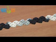 ▶ Crochet Simple Zig-Zag Cord Tutorial 36 Single Crochet - YouTube