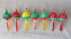 Vintage 1950s Christmas Bubble Lights by Noma