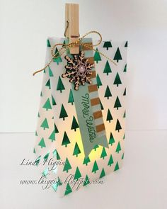 Christmas Candle Gift Bag - easy project and made with products on sale!