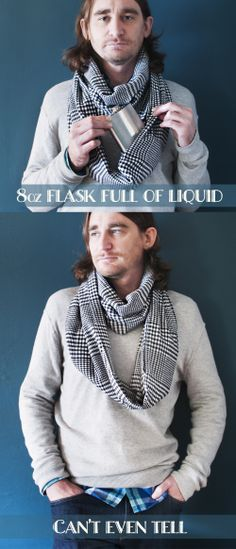 The Prohibition Scarf >>> The scarf with a secret, hidden pocket to store your phone, wallet, lipstick or your flask. :)