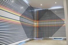 An installation created by Rebecca Ward out of only tape