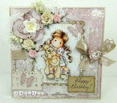 DeeDee´s Card Art: ♥ Marvelous Magnolia DT - Add a sentiment + Emboss ♥