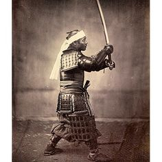 """A photo from Felice Beato's collection of work in Japan. The Bakumatsu period marked the end of the samurai military class. Following the restoration of…"""