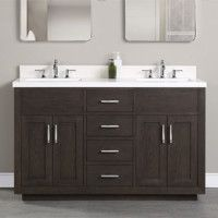 Brookings - Fairmont Designs - Fairmont Designs Fairmont Designs, Ceramic Undermount Sink, Veneer Door, Styling Stations, White Oak, Polished Chrome, Double Vanity, Master Bathroom, White Ceramics