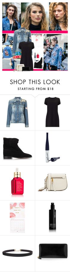 """""""Word on the Street..."""" by sue-mes ❤ liked on Polyvore featuring RED Valentino, Miss Selfridge, Étoile Isabel Marant, Plume, Estée Lauder, Marc Jacobs, Thrive, shu uemura, Humble Chic and Comme des Garçons"""