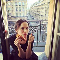 Andrea Corr  2015 From Caroline's Instagram #Paris #whitelight #thecorrs #warnermusic