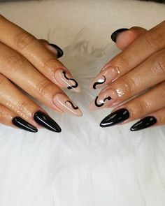 Sexy Nails, Black Nails, White Nails, Garra, Kylie Nails, Hard Nails, Sculpted Nails, Nail Jewels, Simple Acrylic Nails