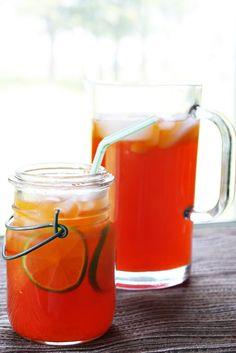 Thai Iced Tea with Lime (Cha Ma-Nao ชามะนาว)   Thai Food by SheSimmers