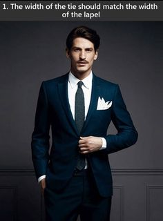 Matching the lapel to the tie gives a sense of cohesion to the entire look of the suit.