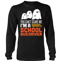 School Bus Driver - Halloween Ghost