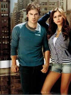 If u don't think they're hot, u are blind af.  Damon and Elena #HottieOfTheWeek @ENews