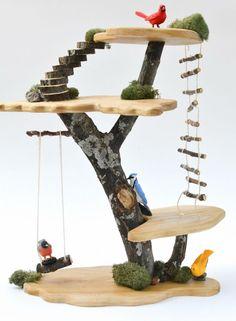 Творим с детьми: декоративный домик-дерево своими руками